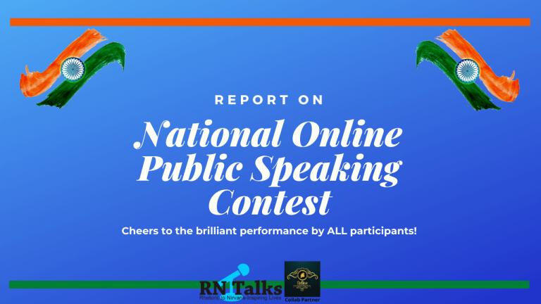 Report: GenOrators 2020 National Online Public Speaking Contest