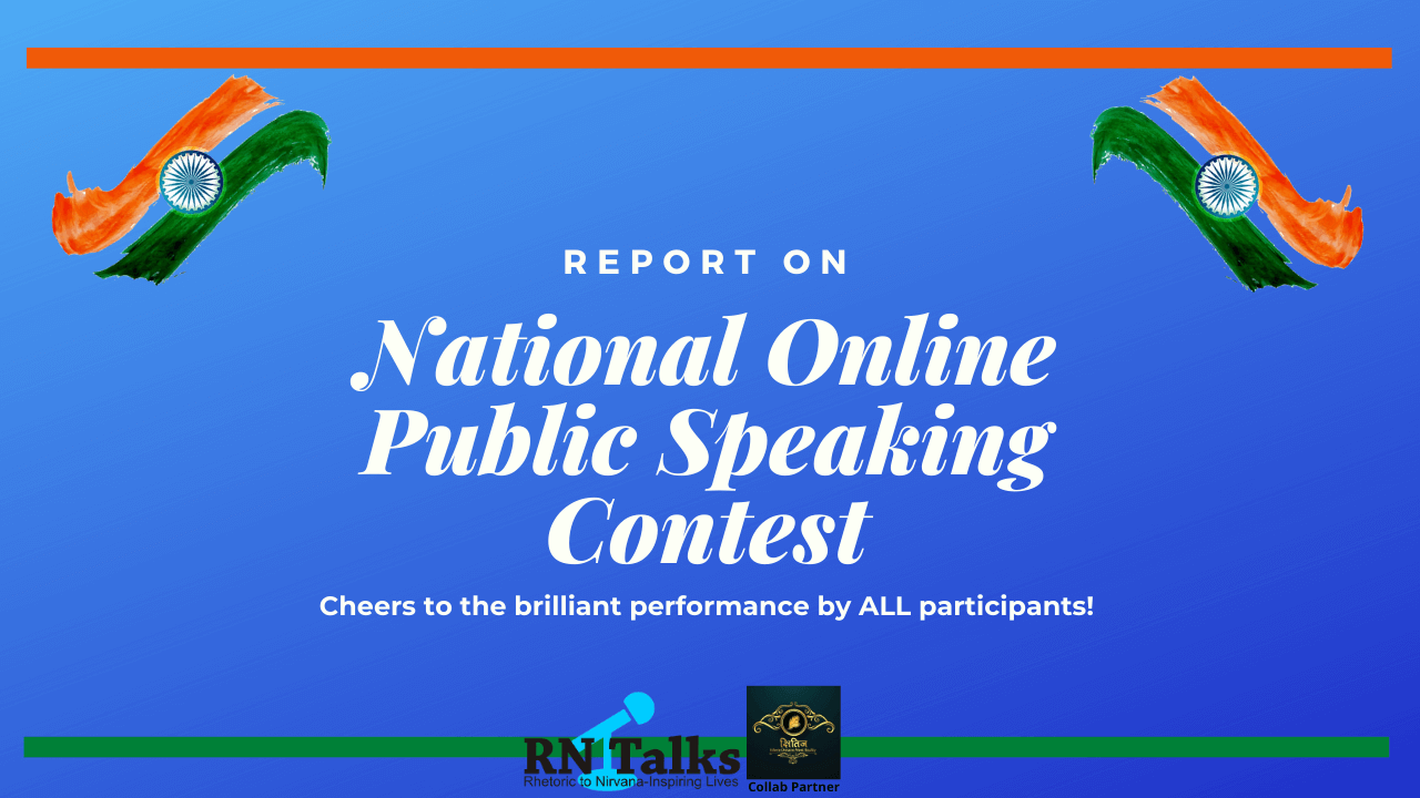 Report: National Online Public Speaking Contest