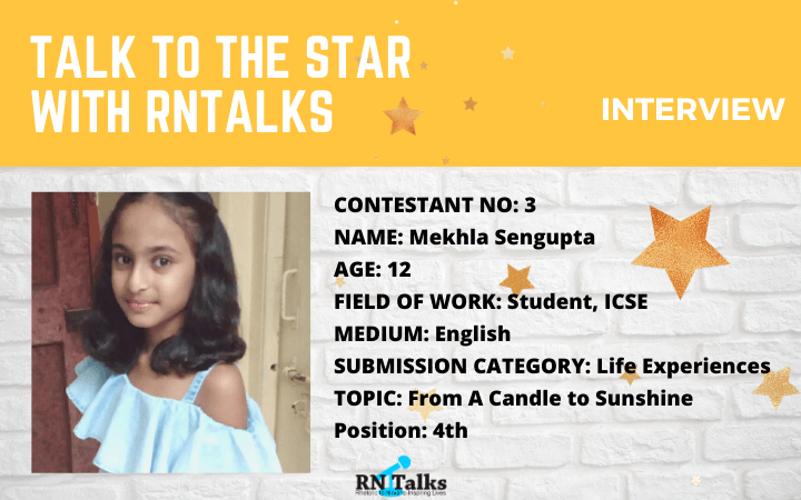 Talk To The Star: Public Speaking Contest-Interview With Mekhla Sengupta