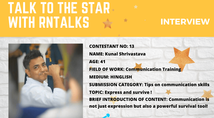 Talk To The Star: Public Speaking Contest-Interview With Kunal Shrivastava