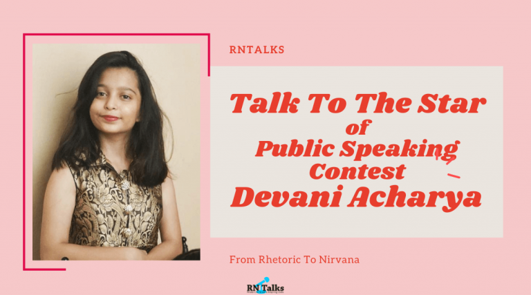 Talk To The Star: Public Speaking Contest-Interview With Devani Acharya