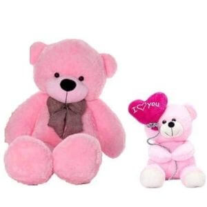 5 feet Pink Teddy Bear Lovable and Huggable Cute Teddy Bear Best for Valentine/Anniversary Someone Special Balloon Teddy 32cm