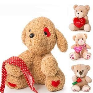 "9"" Valentine's Day Valentines Gift for Girlfriend, Boyfriend, Plush Stuffed Animal (Eyes with red Heart)"