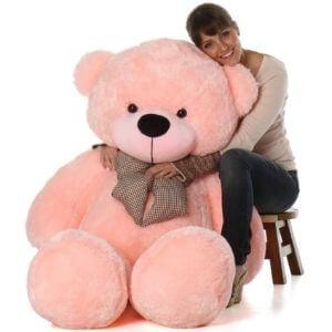 Tedstree Skin Friendly 3 Feet Pink Super Soft Lovable/Huggable Teddy Bear for Girlfriend/Birthday Gift/Boy/Girl (Pink, 3 Feet/91cm)