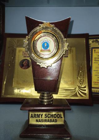Ideal Teacher's Award, Army Public School, Nasirabad, 2009