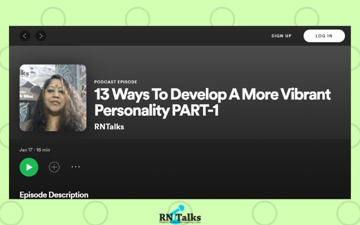 Podcast: 13 Ways To Develop A More Vibrant Personality PART-1