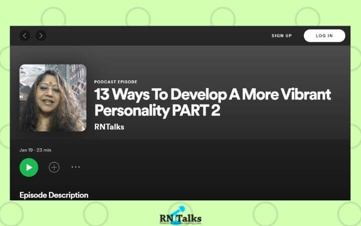 Podcast: 13 Ways To Develop A More Vibrant Personality PART 2