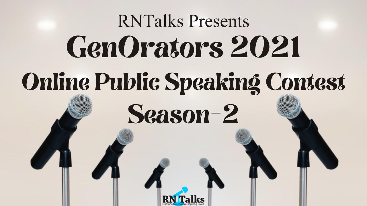 GenOrators 2021 Online Public Speaking Contest Season-2